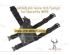 Chinese made 6004 (Beretta M92) Holster With Flashlight[Deluxe version]